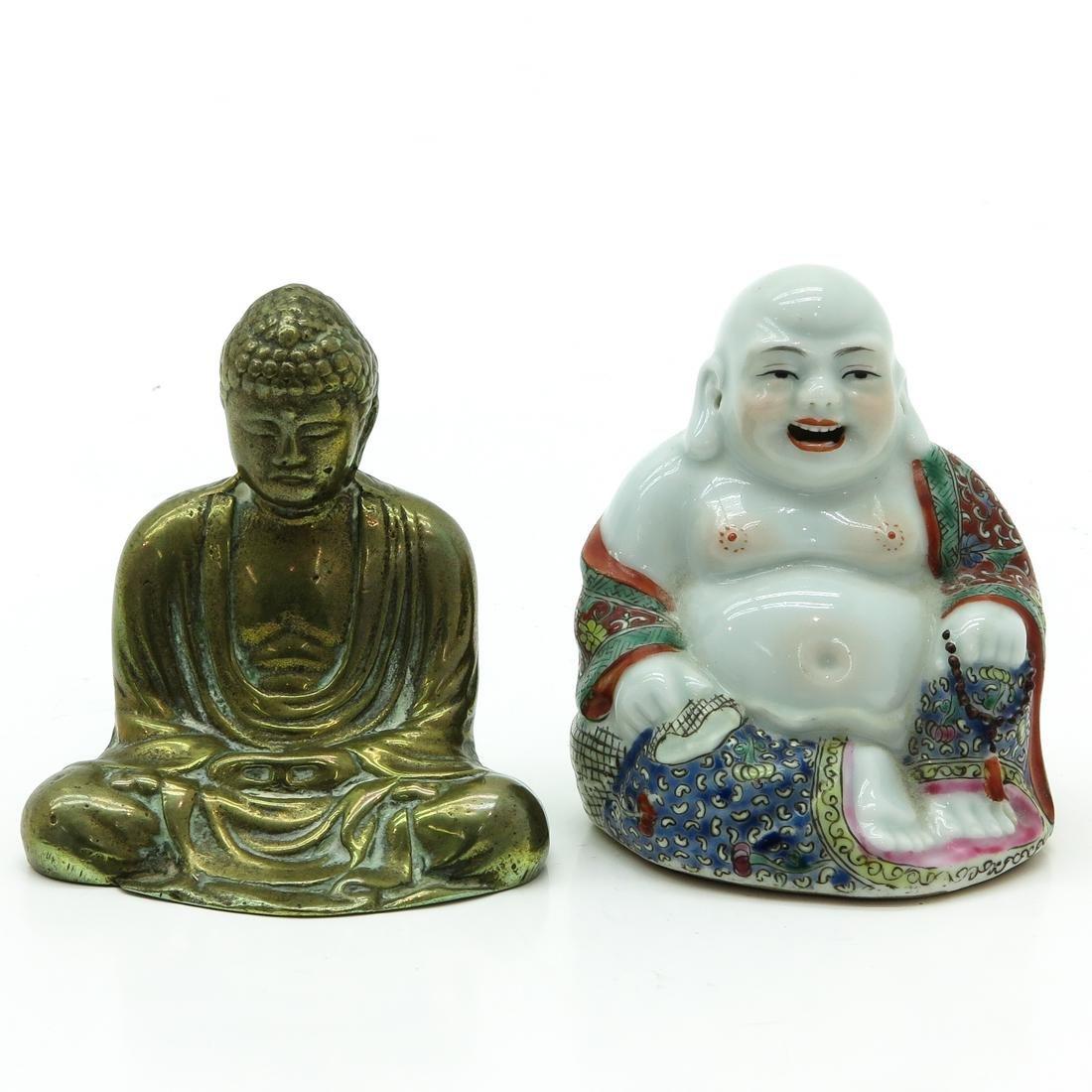 Lot of 2 Buddha Sculptures