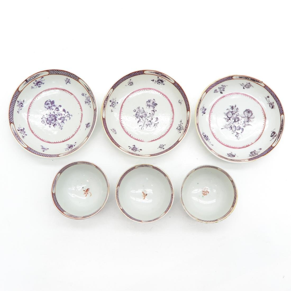 Lot of 3 Cups and Saucers - 5