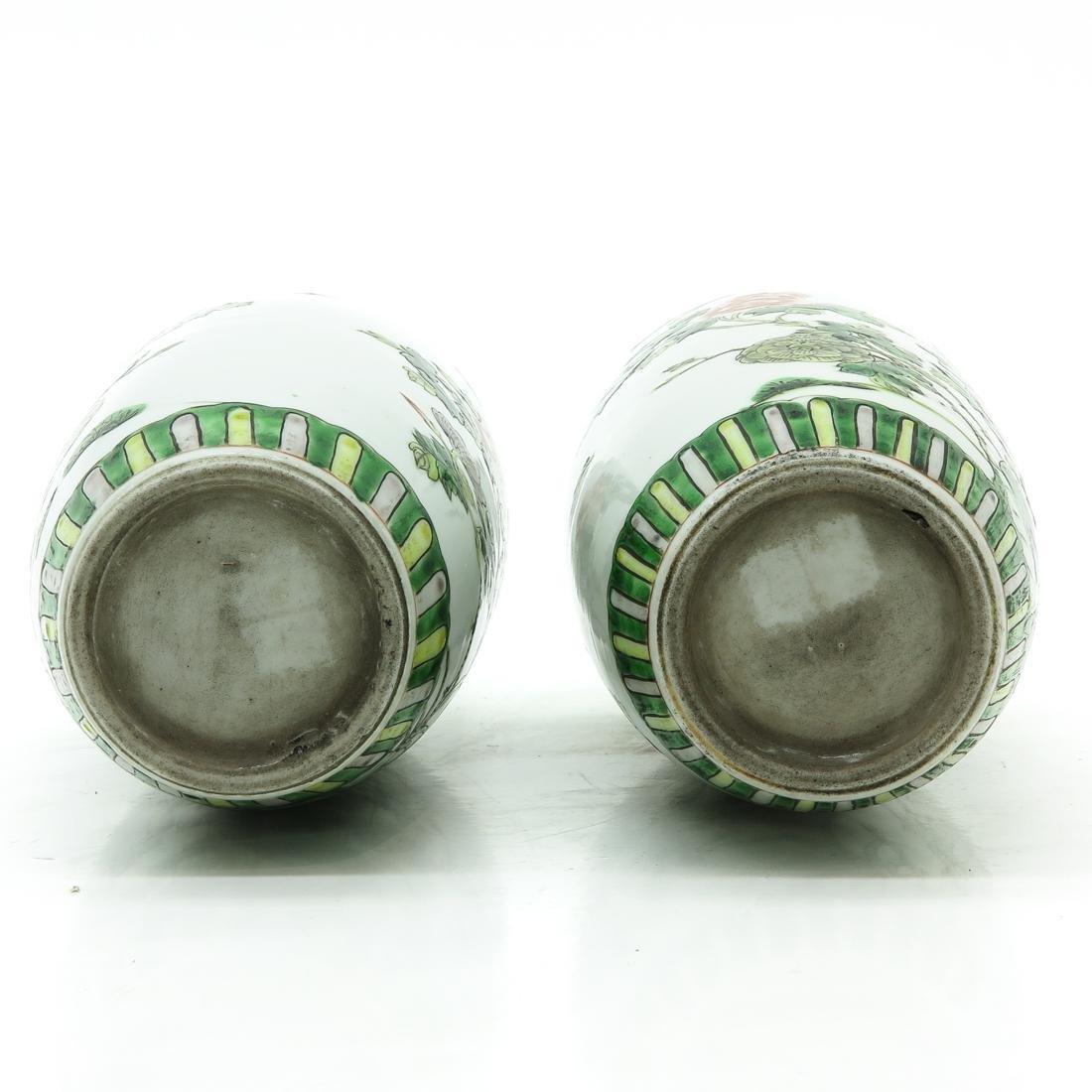 Pair of Famille Verte Vases - 6