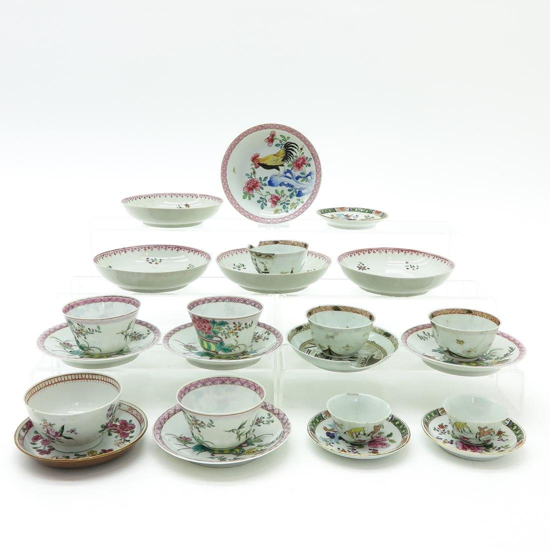 Diverse Lot of Cups and Saucers - 2