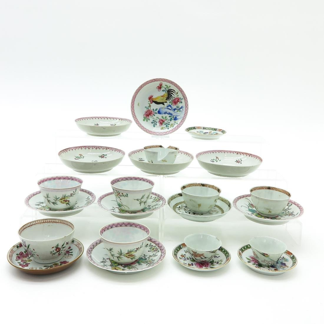 Diverse Lot of Cups and Saucers - 3