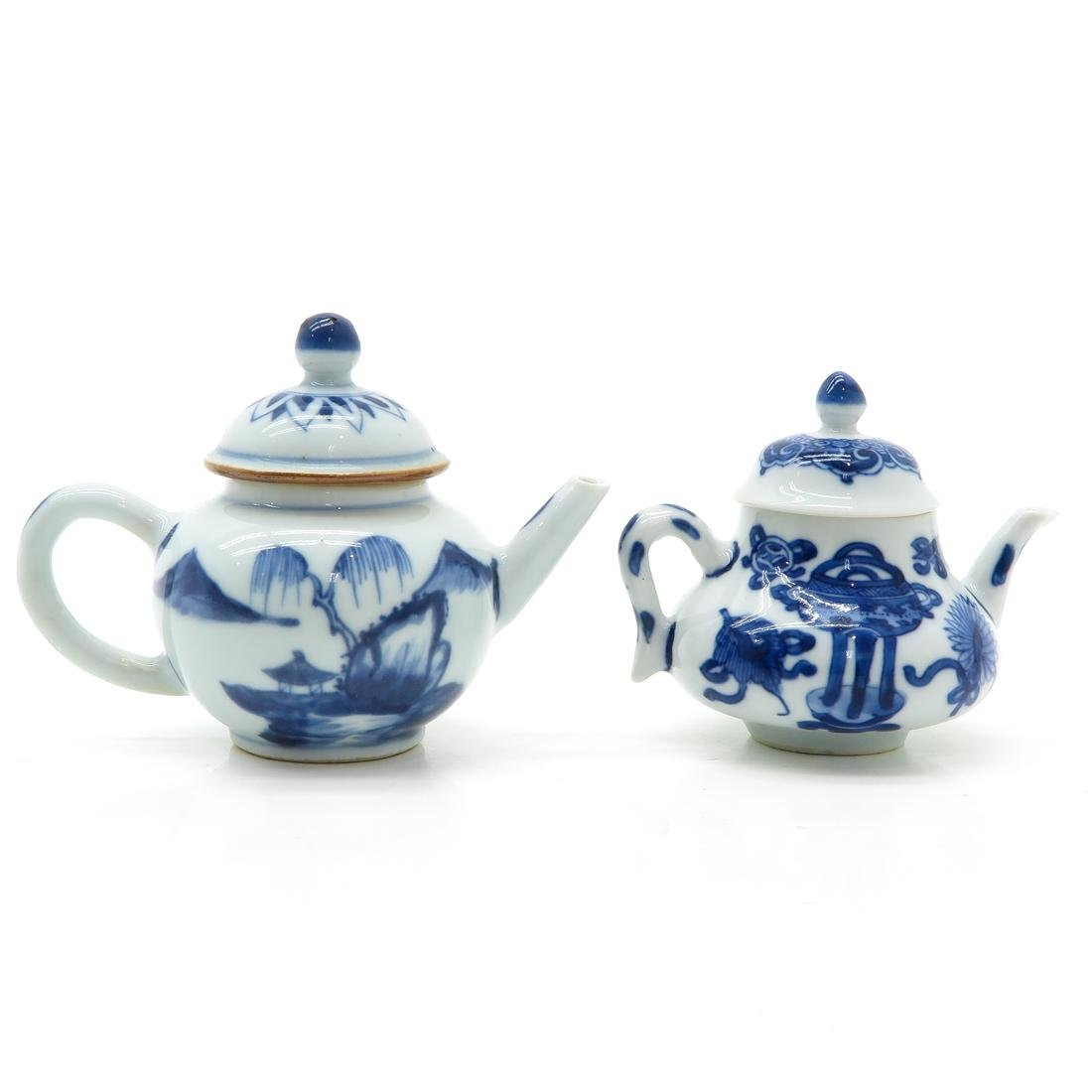 Lot of 2 Small Teapots - 3
