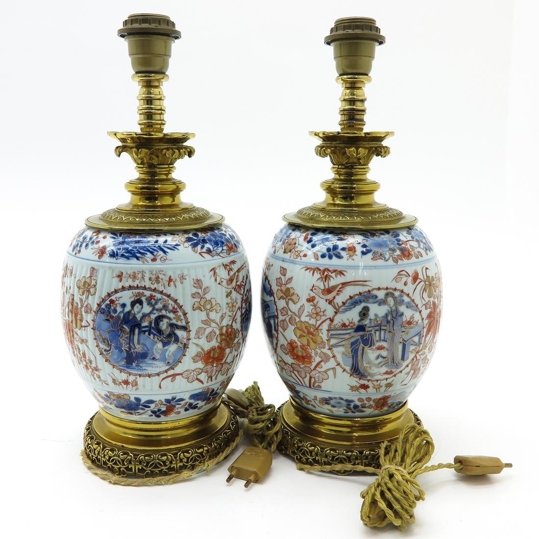 Pair of Imari Lamps - 3