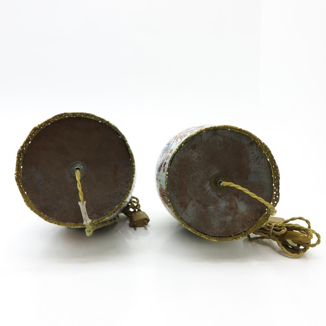 Pair of Imari Lamps - 6