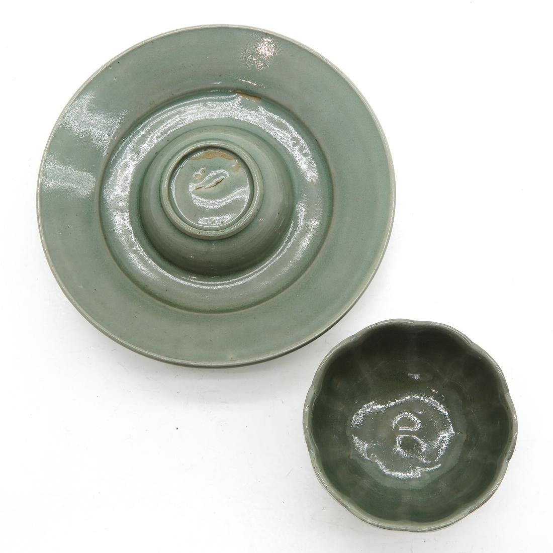 Celadon Cup and Underplate - 5