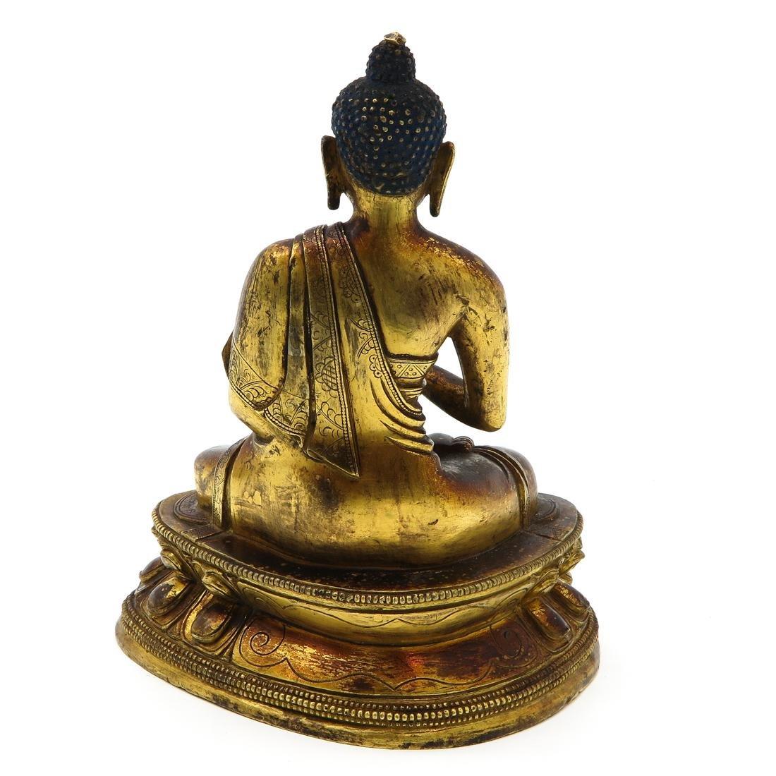 Bronze Buddha Sculpture - 3