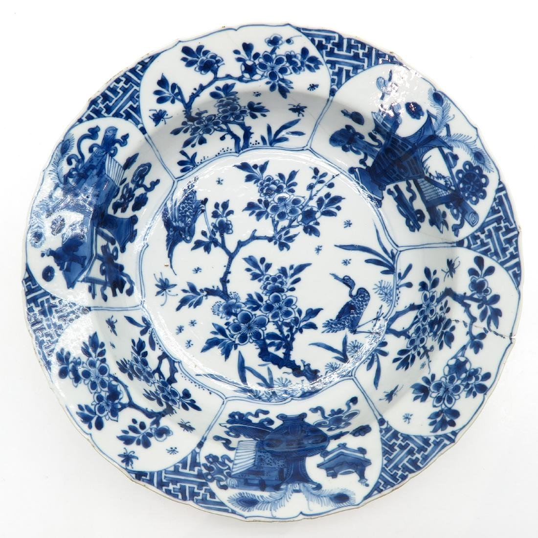 Blue and White Decor Plate
