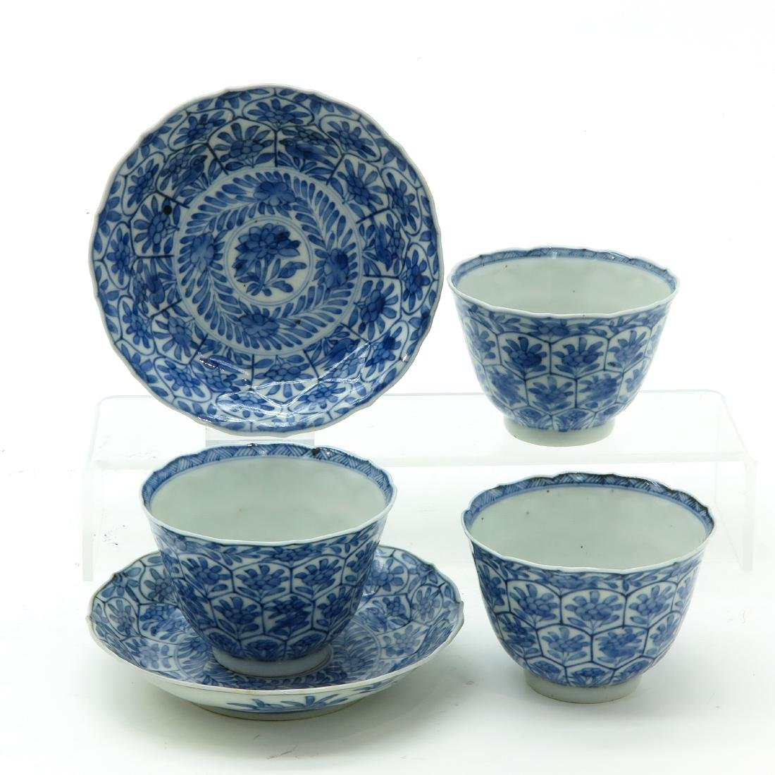A Lot of Blue and White Cups and Saucers - 2