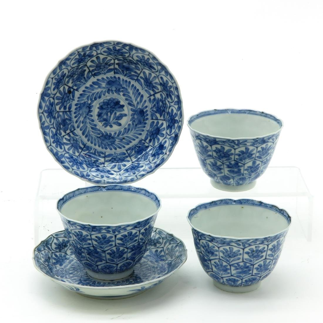 A Lot of Blue and White Cups and Saucers - 3