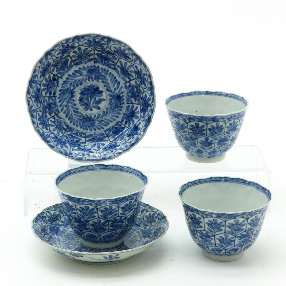 A Lot of Blue and White Cups and Saucers - 4