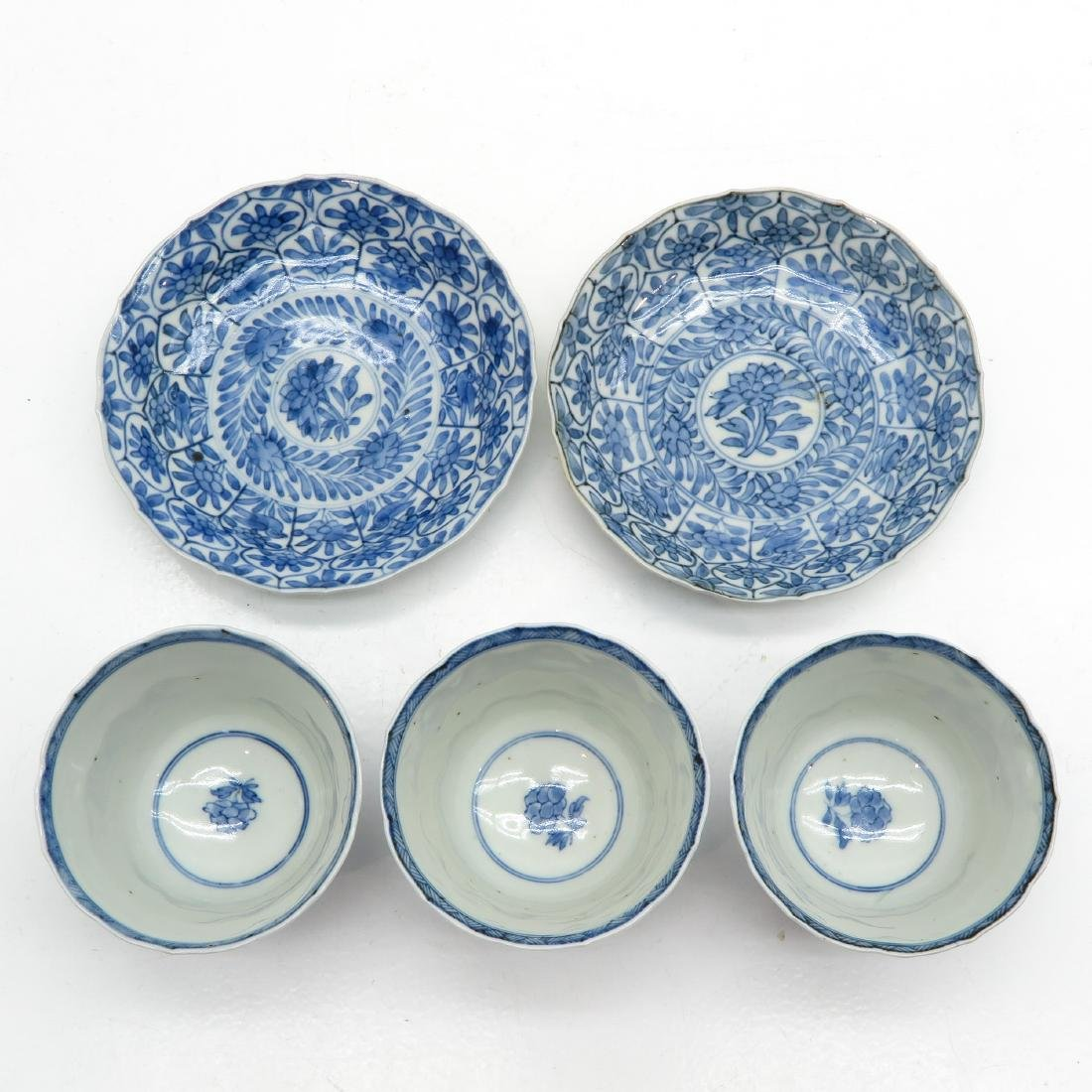 A Lot of Blue and White Cups and Saucers - 5