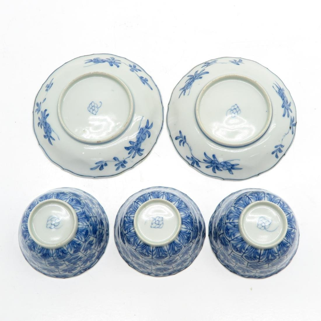 A Lot of Blue and White Cups and Saucers - 6