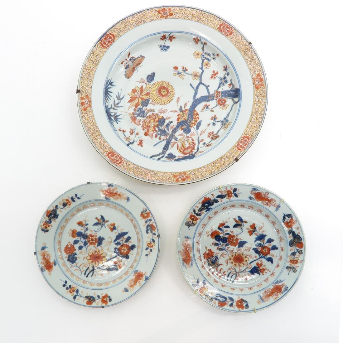 A Lot of 3 Imari Decor Plates