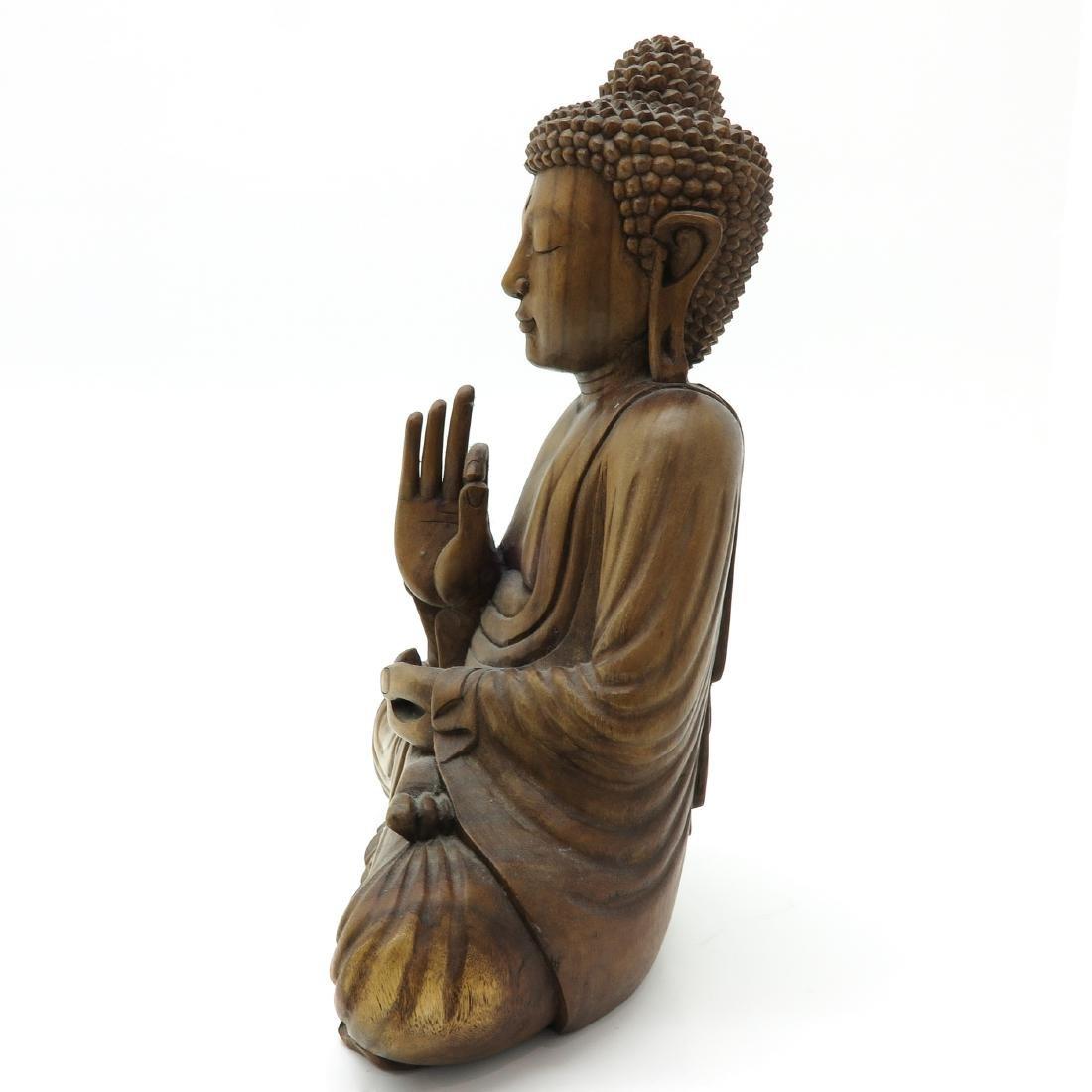 A Carved Wood Buddha - 2
