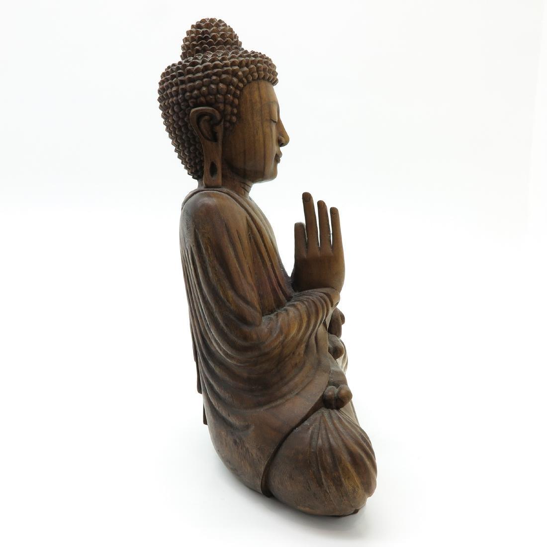 A Carved Wood Buddha - 4