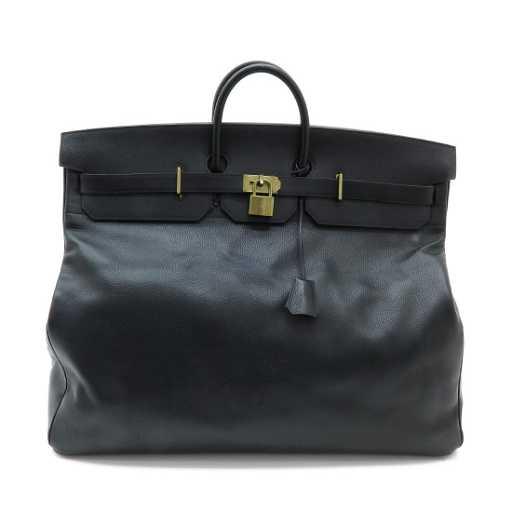 faf07413d A Large Hermes Black Leather Travel Bag. placeholder. See Sold Price