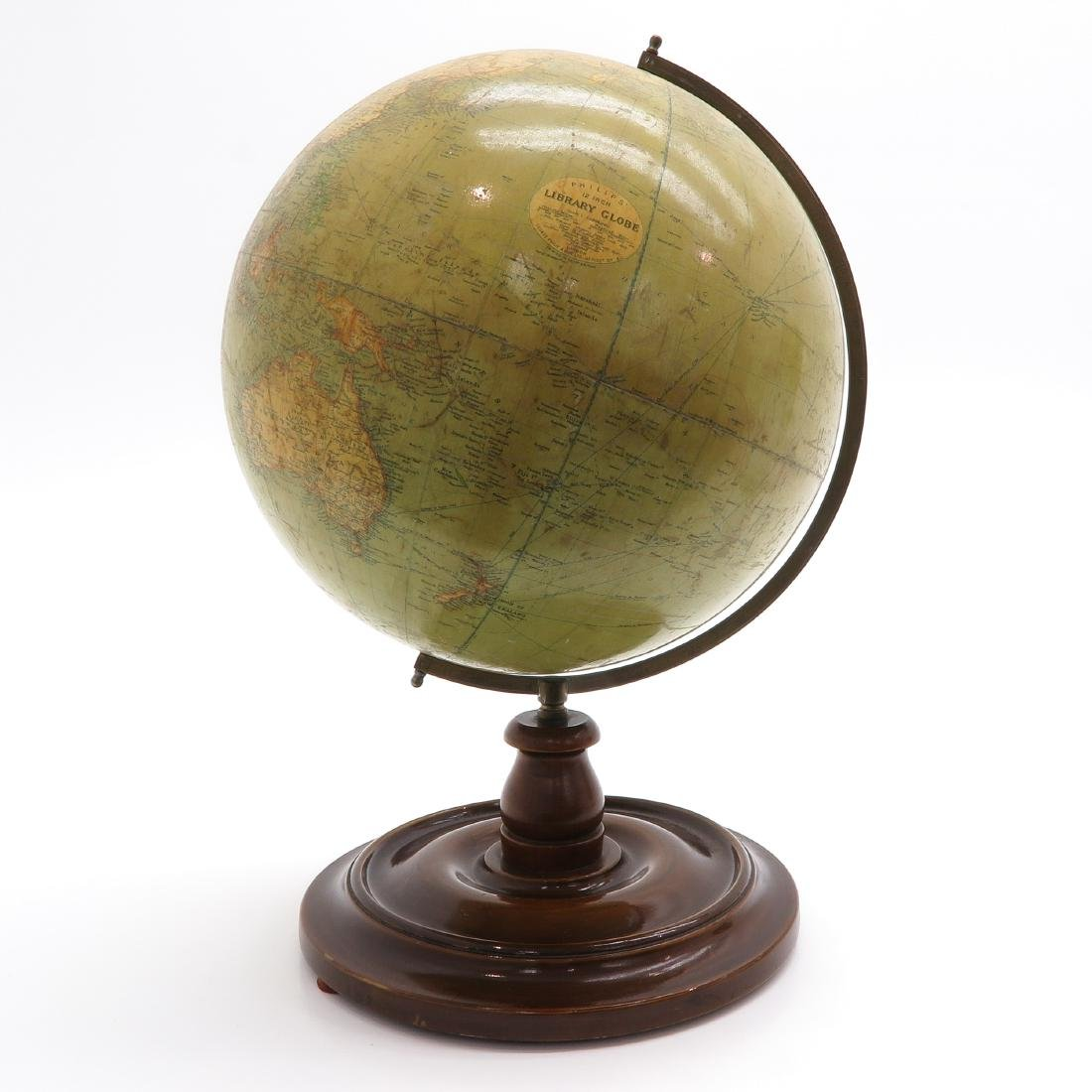 A Philips Terrestrial Library Globe 1930