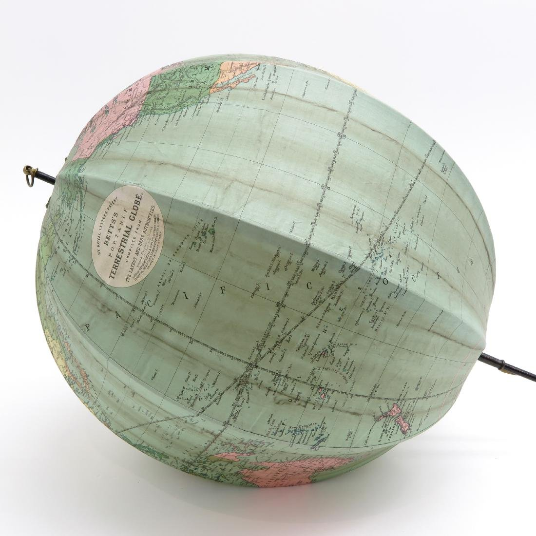 A Bett's Portable Terrestrial Globe with Box 1925 - 2