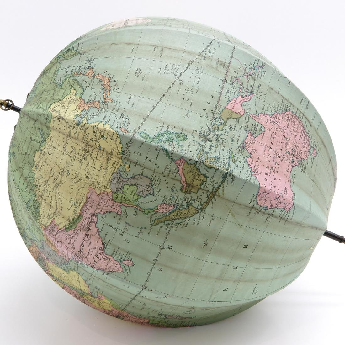 A Bett's Portable Terrestrial Globe with Box 1925 - 5