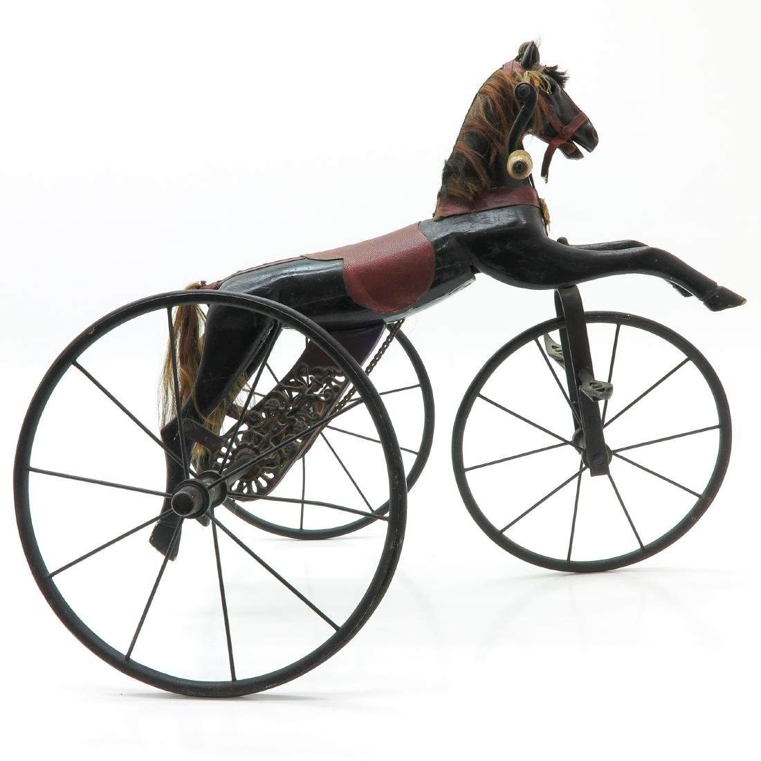 A Nice Antique French Toy Horse on Wheels Circa 1880