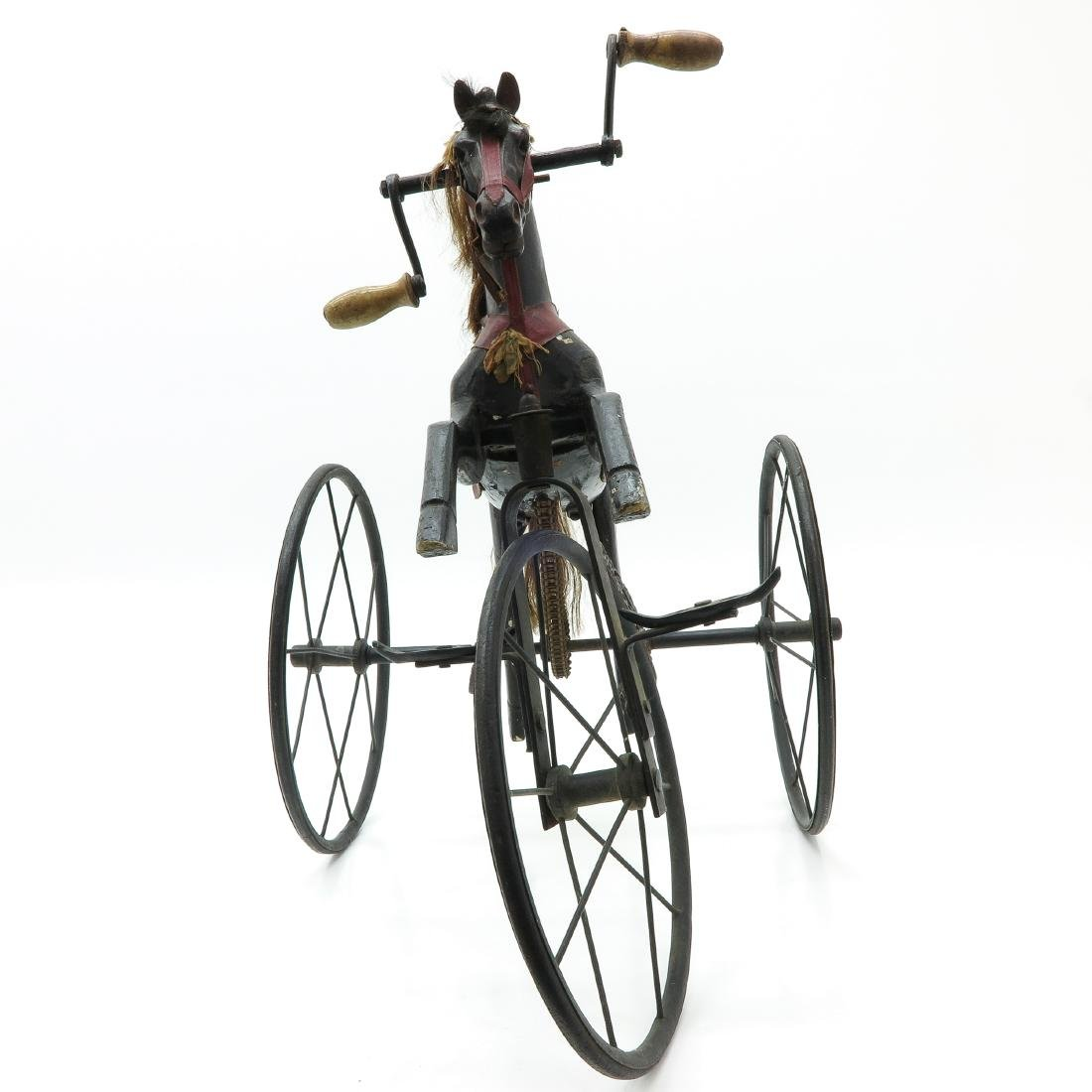 A Nice Antique French Toy Horse on Wheels Circa 1880 - 2