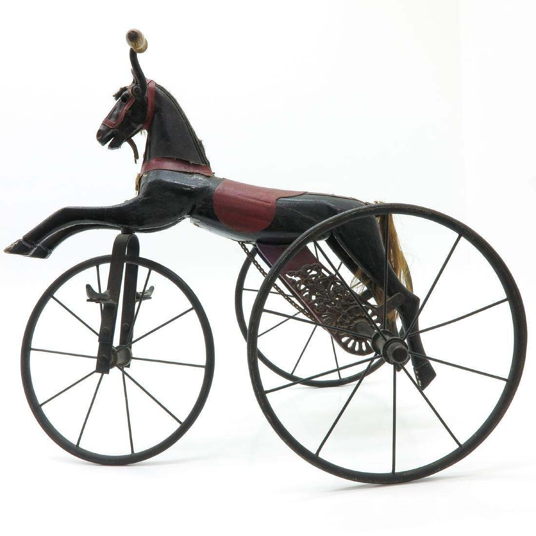 A Nice Antique French Toy Horse on Wheels Circa 1880 - 3
