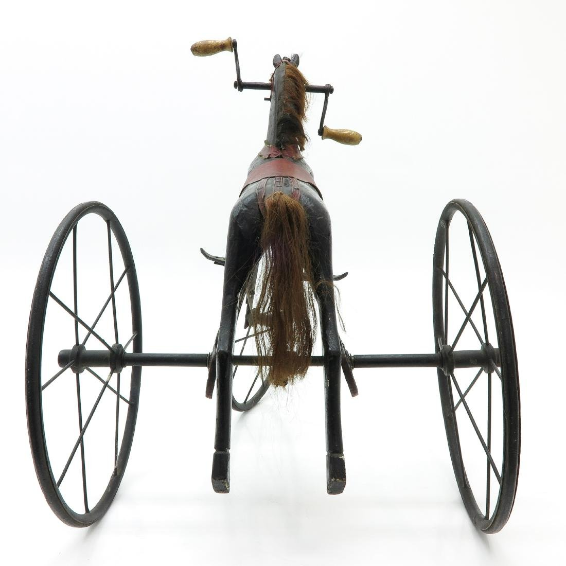 A Nice Antique French Toy Horse on Wheels Circa 1880 - 4