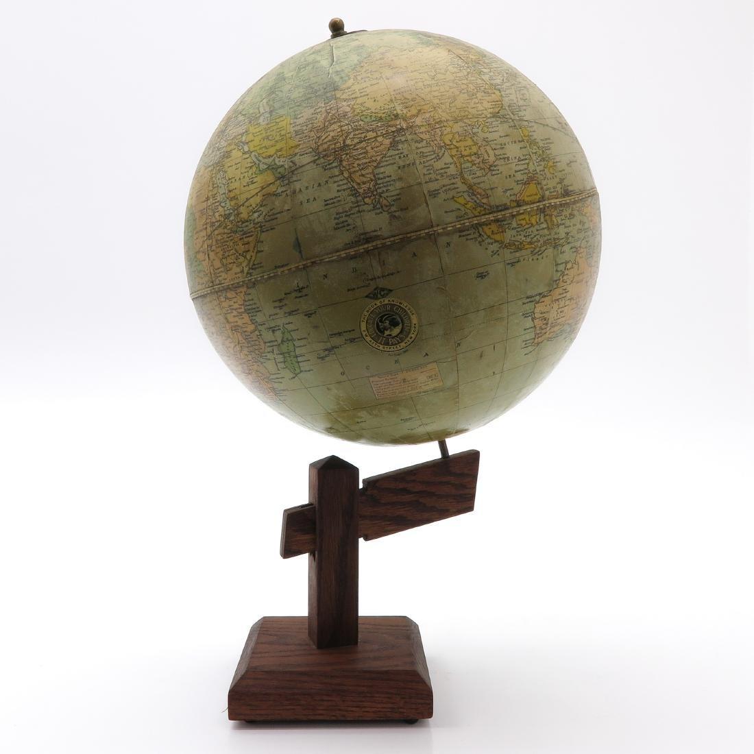 A Weber Costello Terrestrial Globe 1924