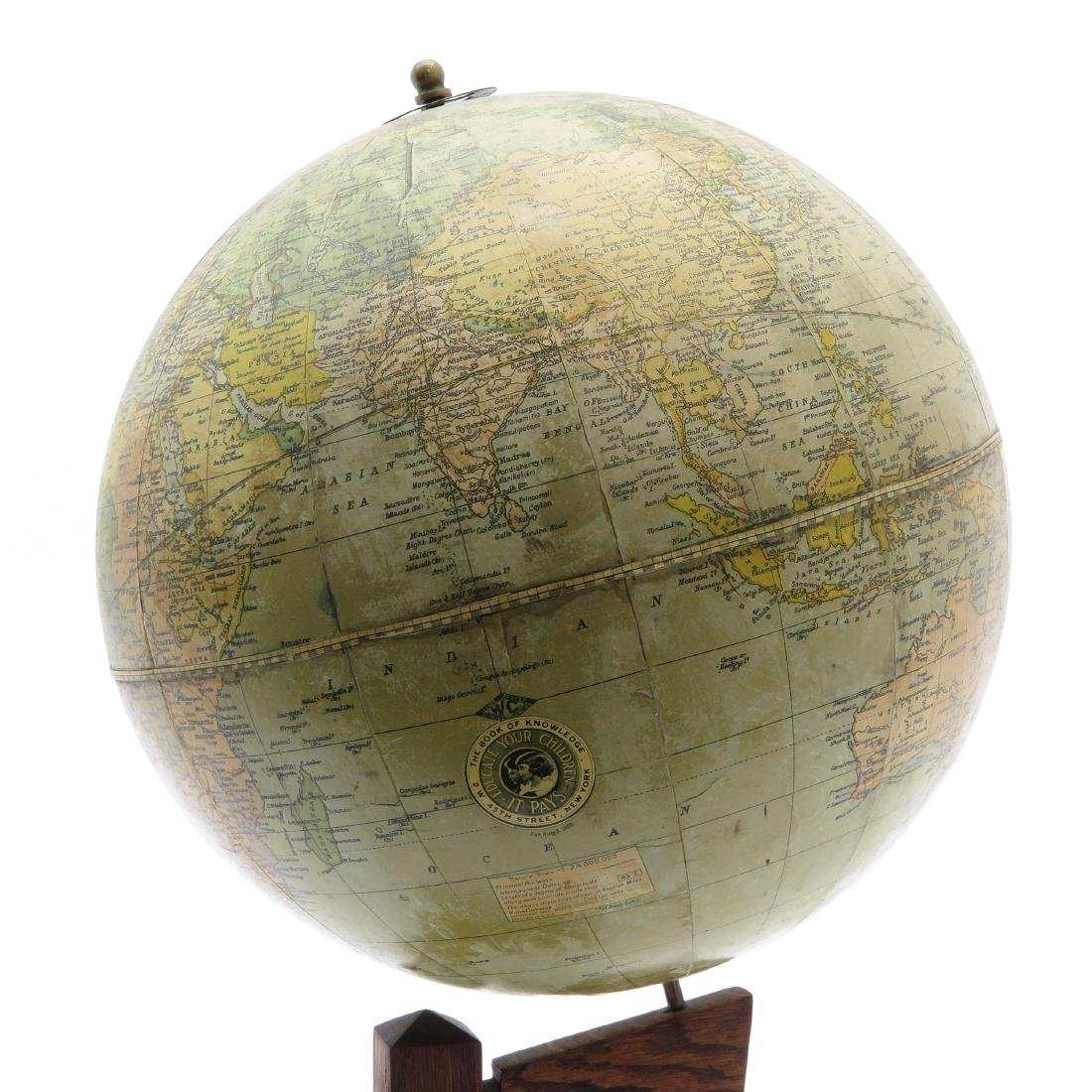 A Weber Costello Terrestrial Globe 1924 - 2