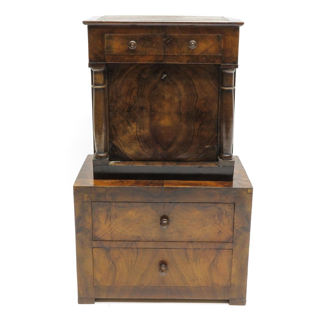 A 19th Century Miniature Walnut Cabinet