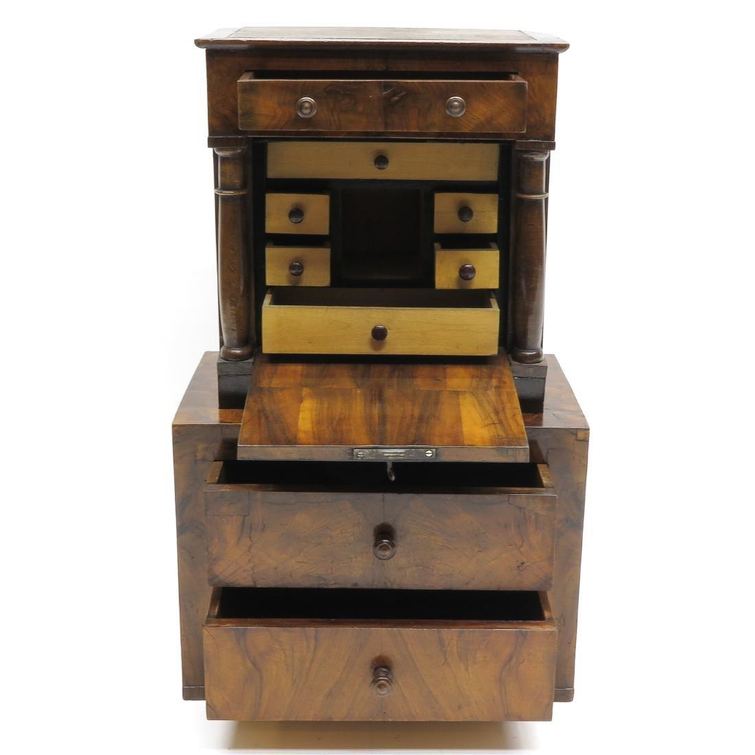 A 19th Century Miniature Walnut Cabinet - 2