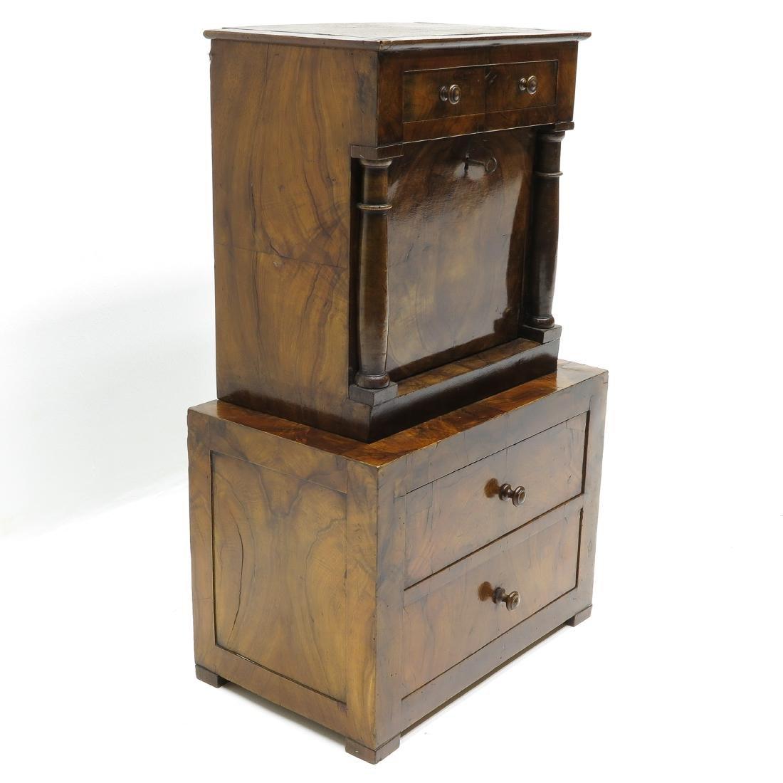A 19th Century Miniature Walnut Cabinet - 3