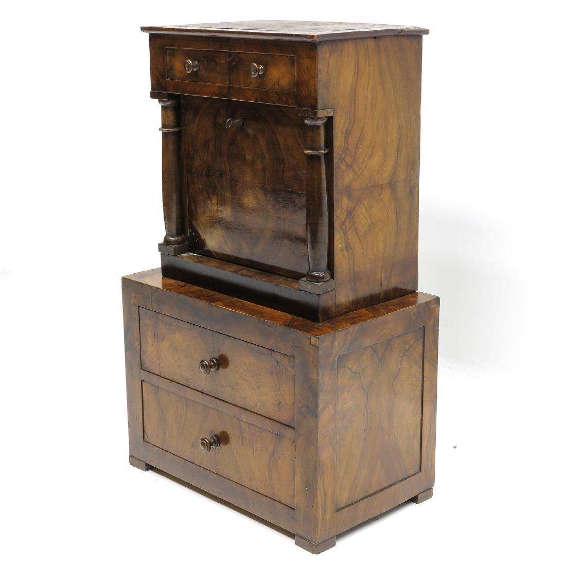 A 19th Century Miniature Walnut Cabinet - 4