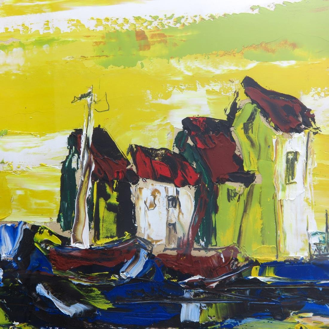 A Signed Acrylic on Board - 4