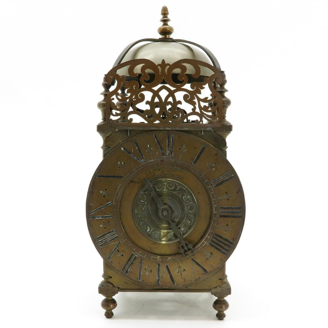 A Bronze Lantern Clock Signed Saint Andre A Bordeaux