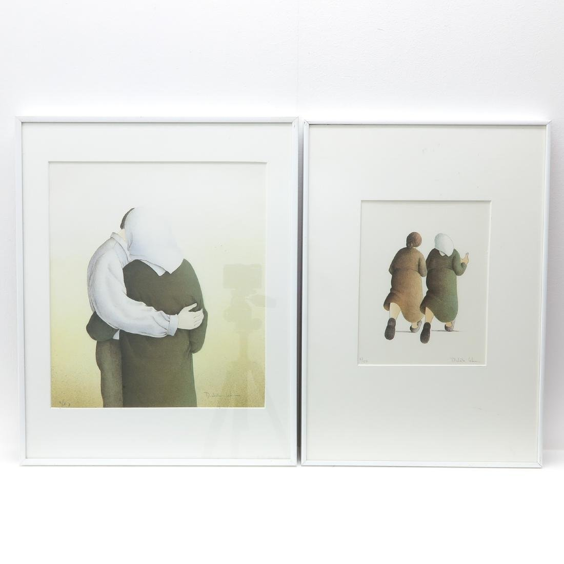 Two Lithographs Signed Michelle Lehmann