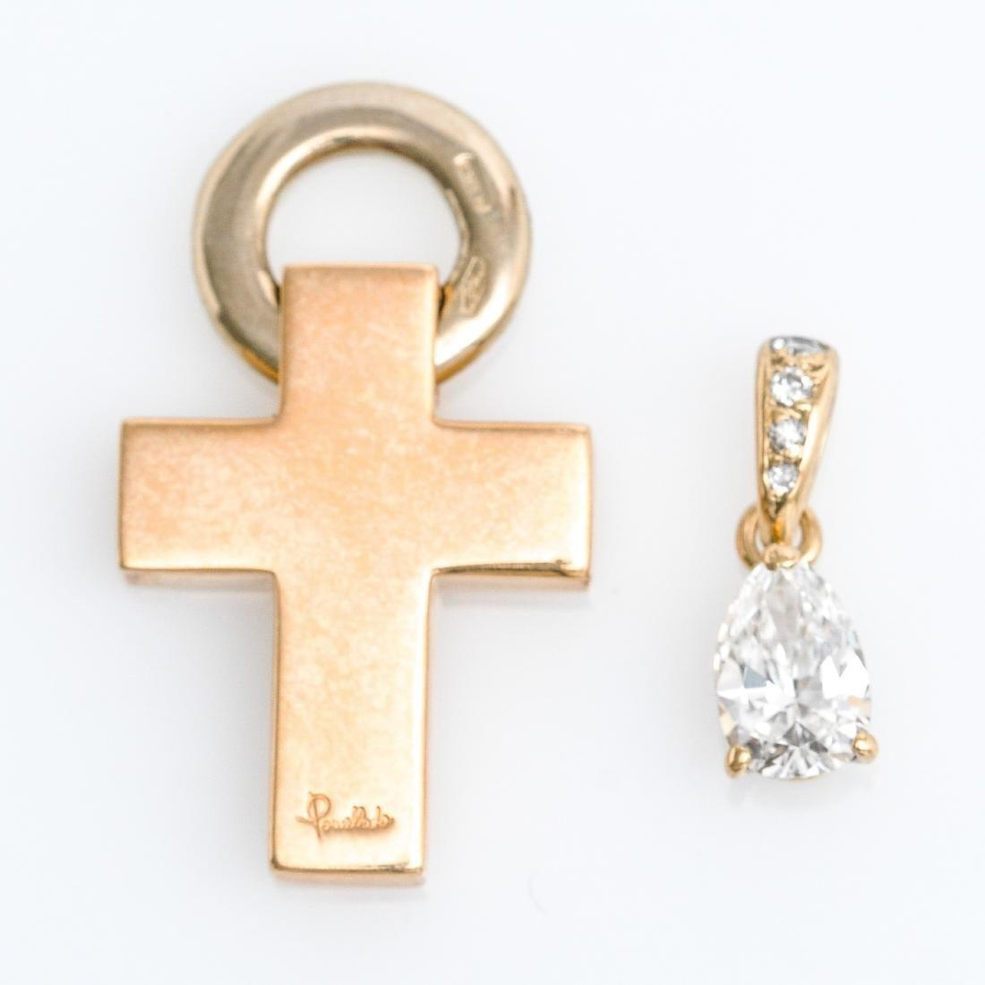 Two Pendants Including Pear Shaped Diamond