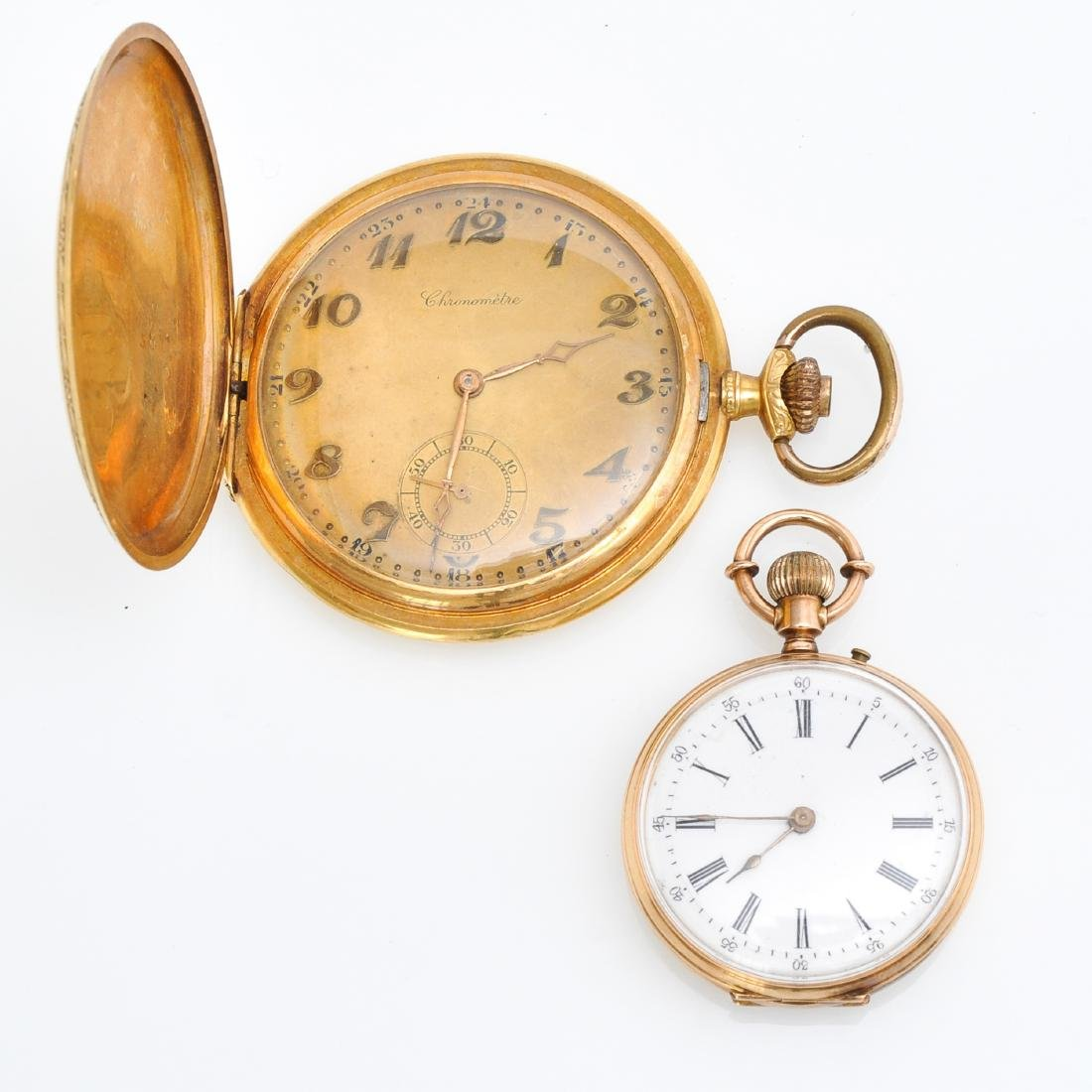 Two Gold Pocket Watches