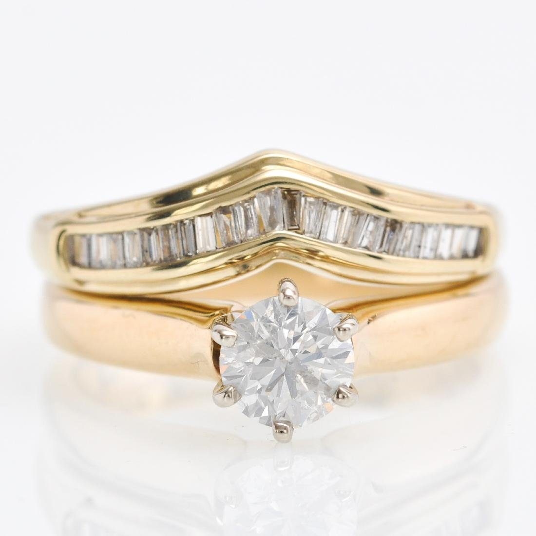 A 14KG and 10KG Ladies Diamond Ring
