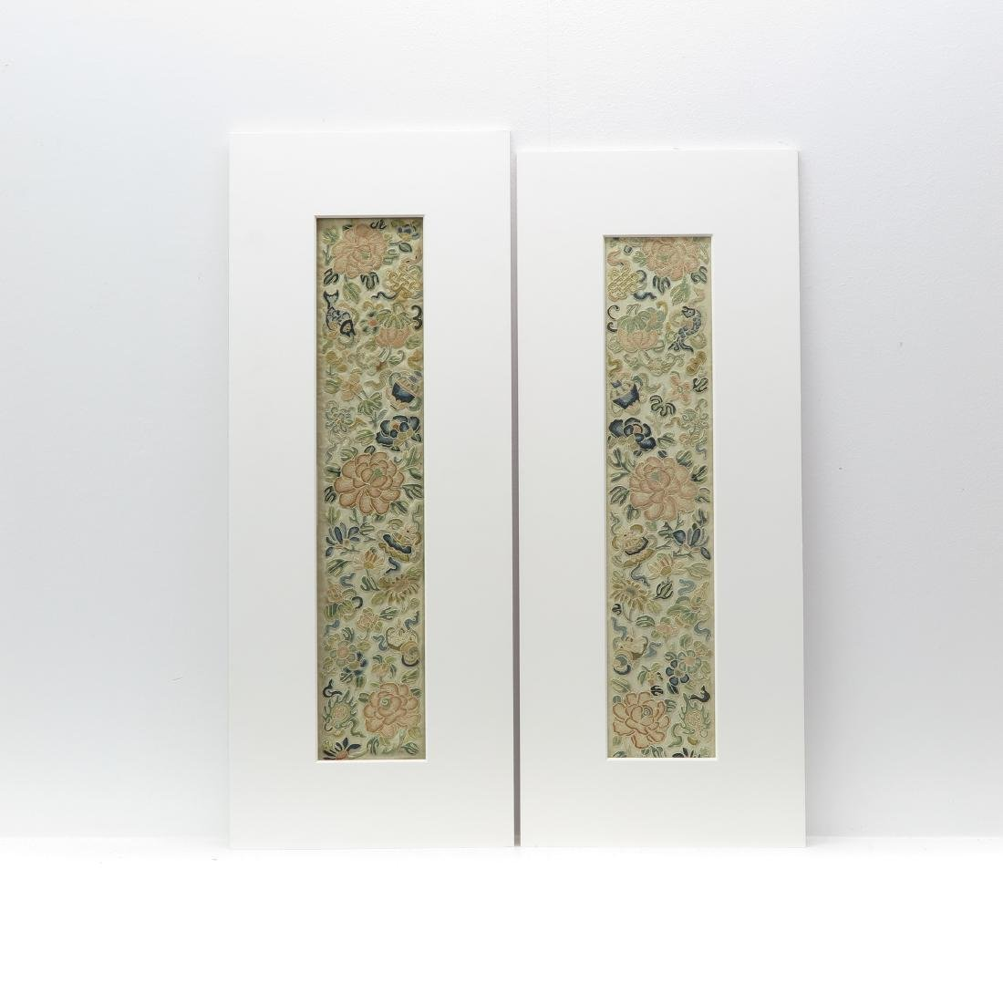 Two Chinese Silk Embroidered Textiles