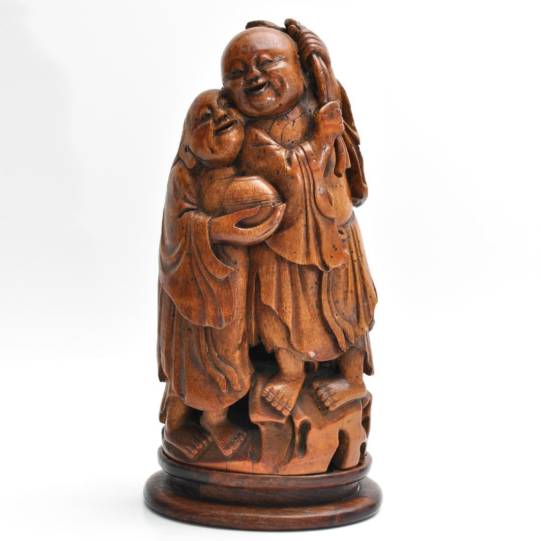 A Carved Bamboo Sculpture