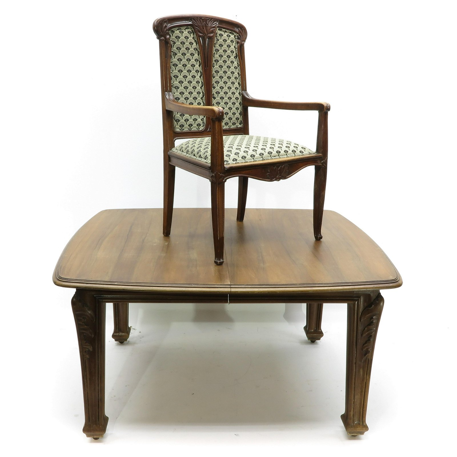 A Art Nouveau Table and Chair