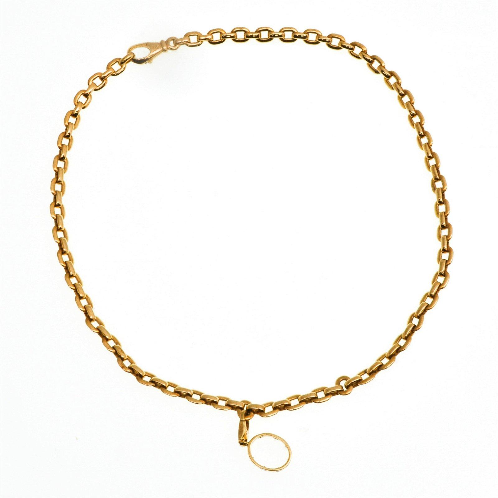 An 18KG Cartier Necklace with Diamond Pendant