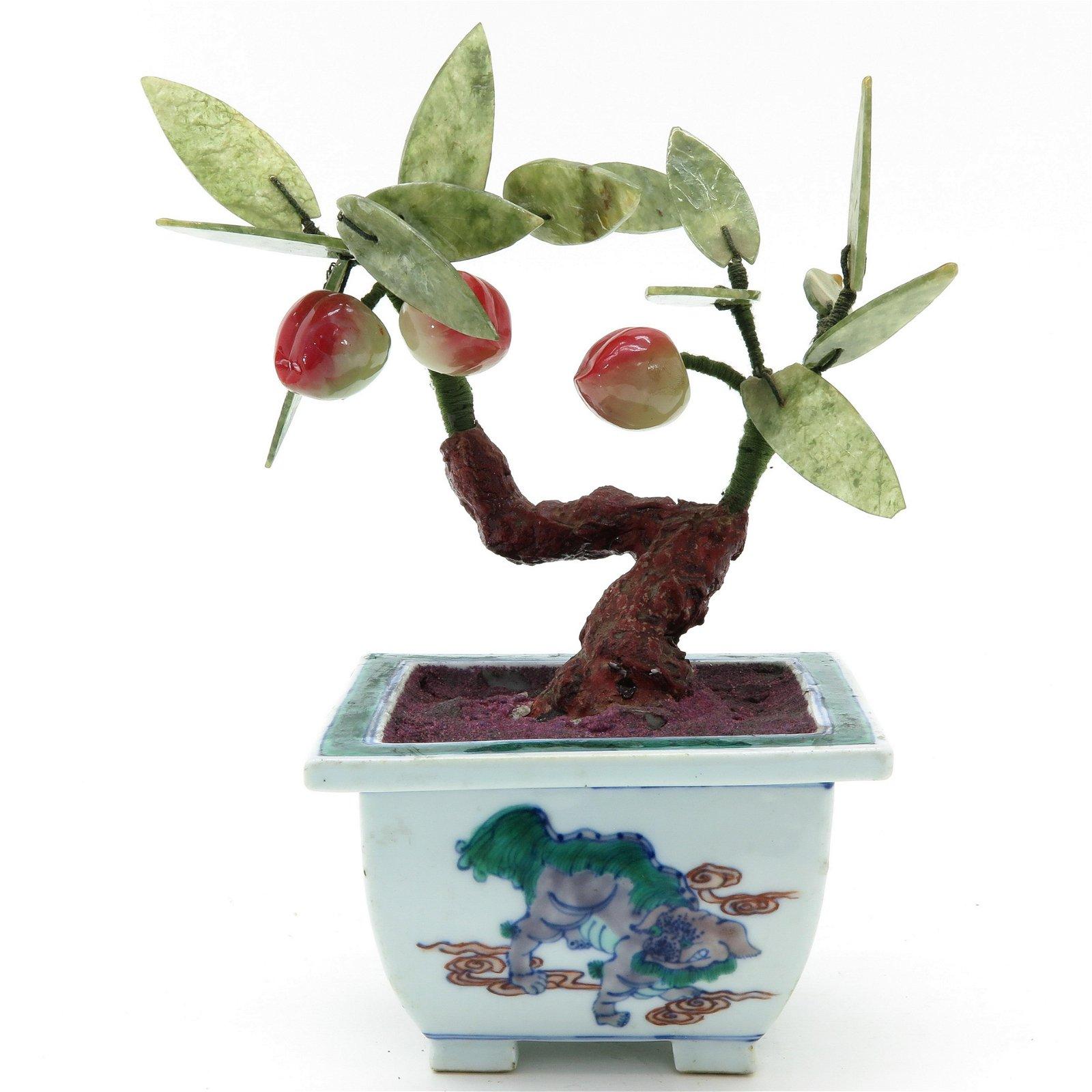 A Jade Floral Sculpture