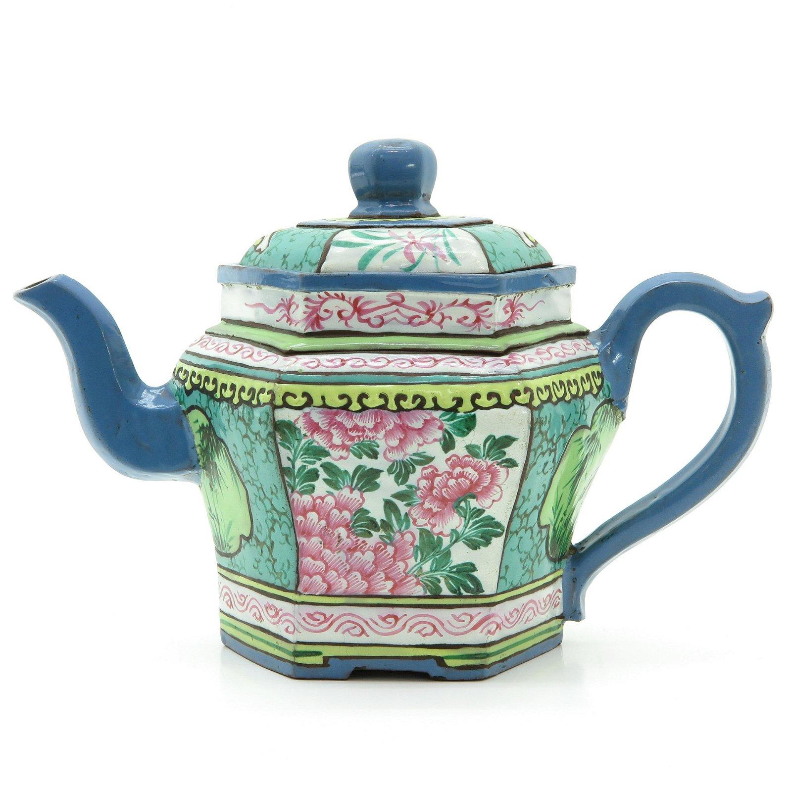 An Enamel Yixing Teapot
