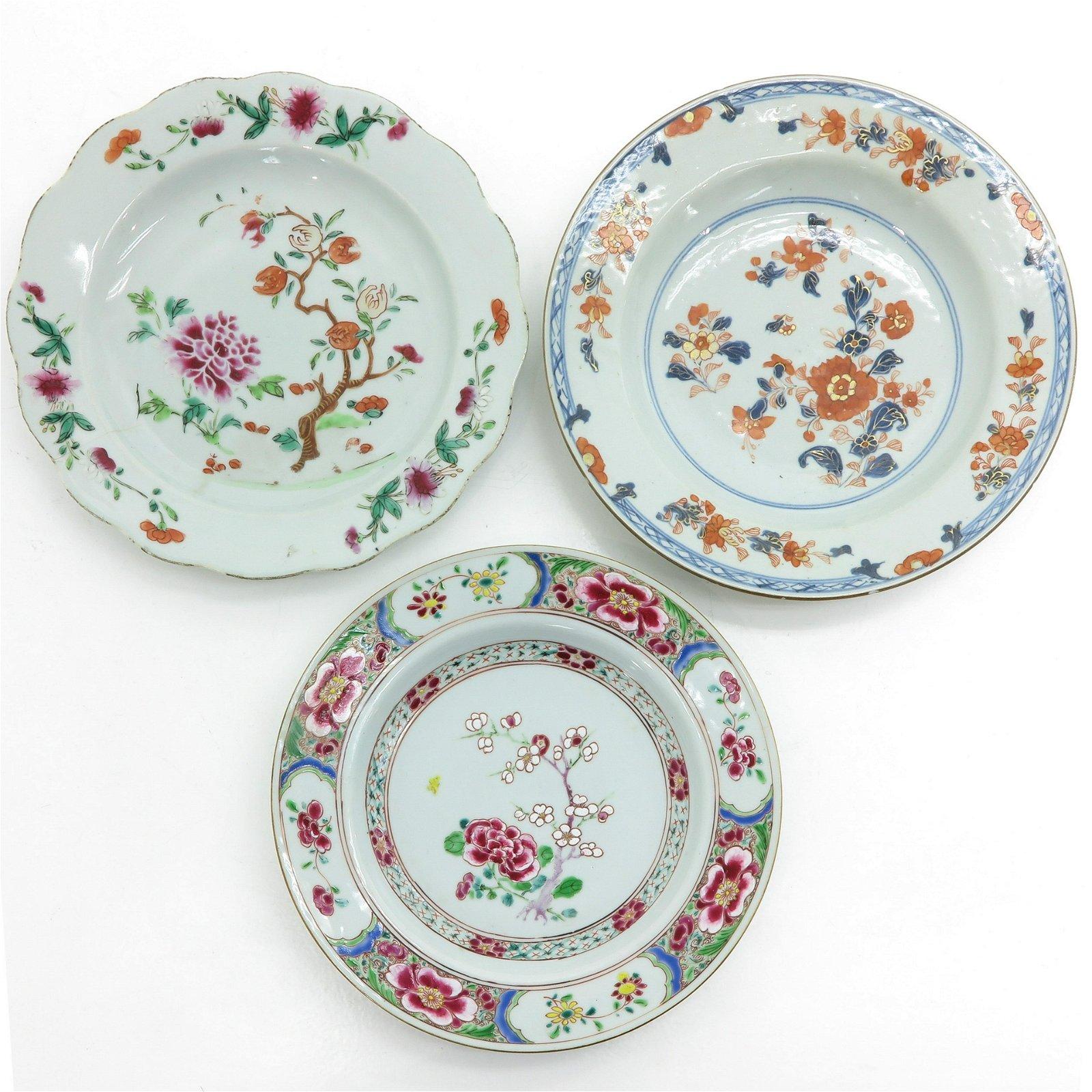 Three Polychrome Decor Plates