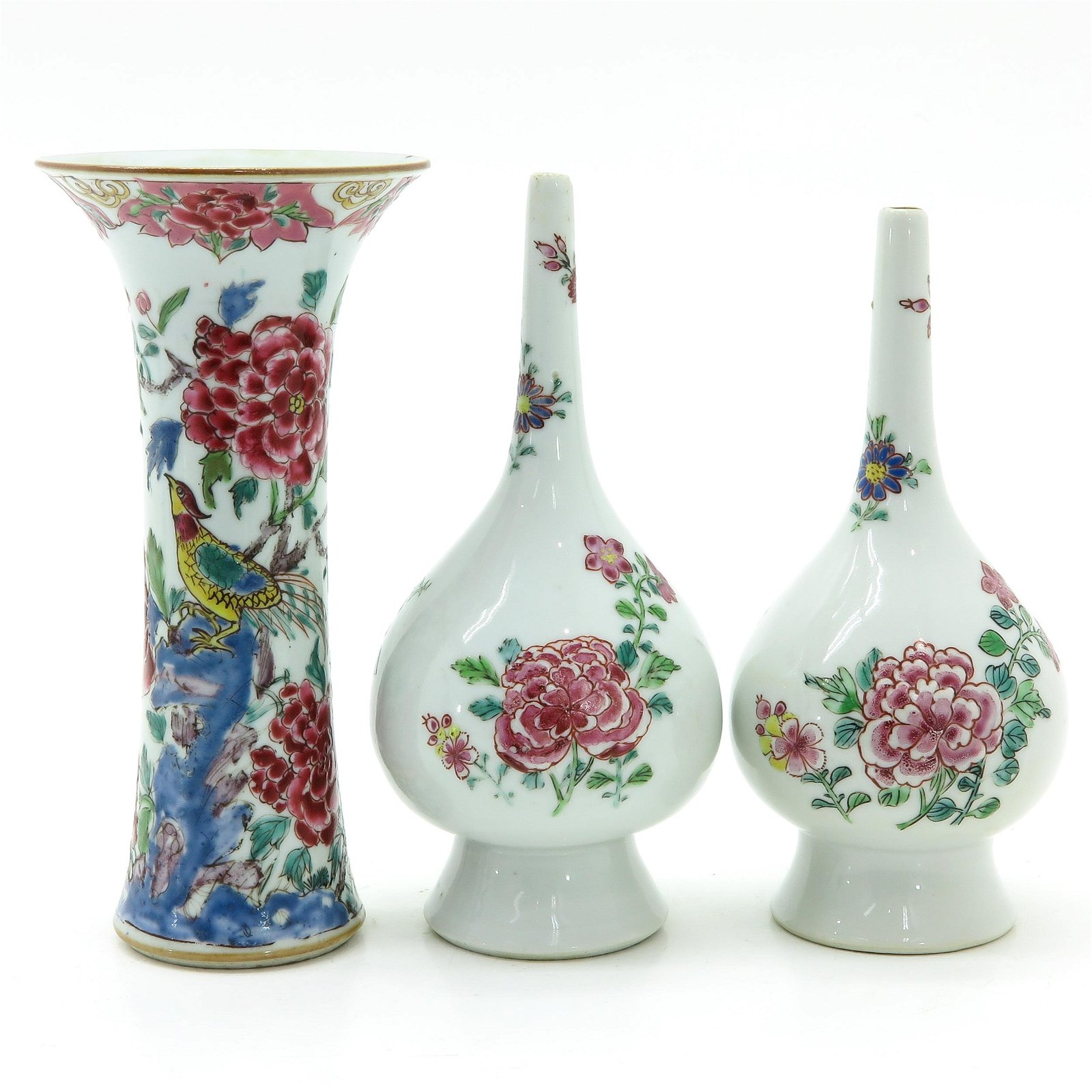 A Collection of Famille Rose Porcelain