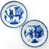 A Pair of Chinese Blue and White Plates