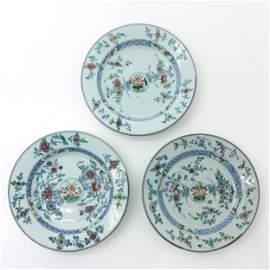 Three Doucai Decor Plates