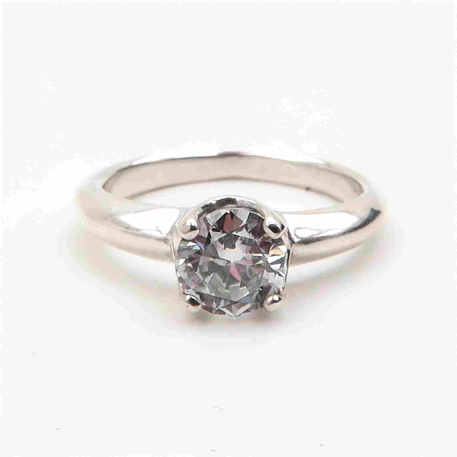 A Ladies Diamond Solitaire Ring 0.93 Carat